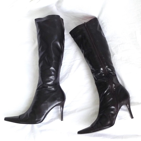 biggest discount amazon various styles Shoes | Chocolate Brown Knee High Slim Calf Boots Sz 10m | Poshmark